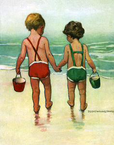 Brother and Sister at the Beach | Jessie Willcox Smith
