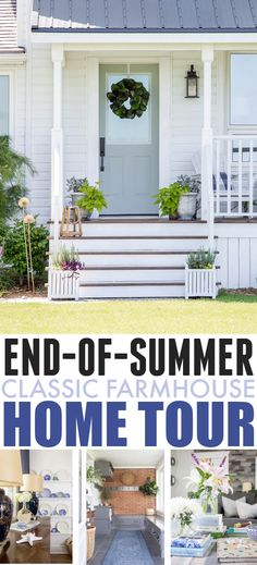 End-of-Summer Classic Farmhouse Home Tour | The Creek Line House