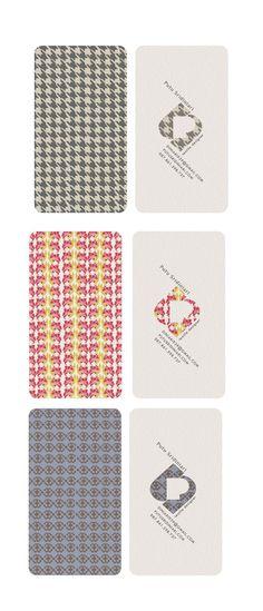 business cards for a textile designer