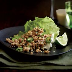At Thai restaurants, Tom Mylan usually requests a double order of larb (or laab), an addictive appetizer of ground meat spiked with chiles, lime juice, and fish sauce and served with lettuce leaves for wrapping.