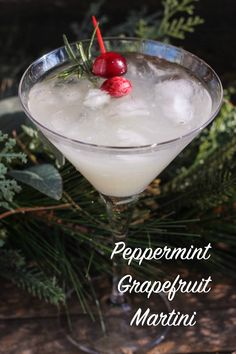 Peppermint Grapefruit Martini. This oh so pretty, and refreshing, peppermint grapefruit martini will surely impress your loved ones this holiday season!