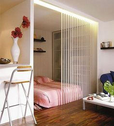 Studio Apartment Partition Ideas big design ideas for small studio apartments | studio apartment