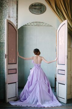 dreamy lilac wedding gown by Sareh Nouri