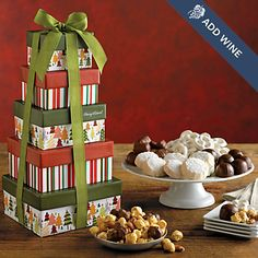 Holiday Tower of Sweet Treats ITEM  W-27109X @ Harry&David $30