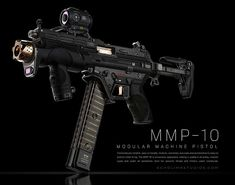 ArtStation - Meet the MMP-10, ECHO LIMA Sci Fi Weapons, Weapon Concept Art, Armor Concept, Weapons Guns, Airsoft Guns, Guns And Ammo, Future Weapons, Submachine Gun, Custom Guns