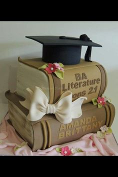 Book Cake ♡ cute for graduation but with your favorite books instead!