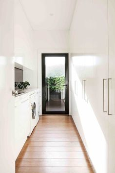 Kodinhoitohuone Melbourne home renovation - old meets new Architecture Renovation, Home Renovation, Home Remodeling, Laundry Doors, Laundry Cabinets, Laundry Closet, Laundry Storage, Laundry Room Inspiration, Melbourne House