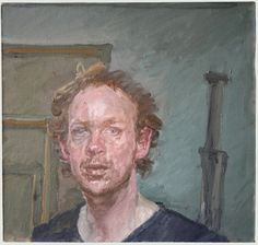 James Lloyd - self portrait with easel