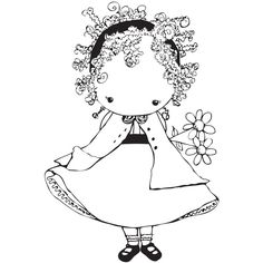 Stamping Bella Izzie Has A Daisy Unmounted Rubber Stamp