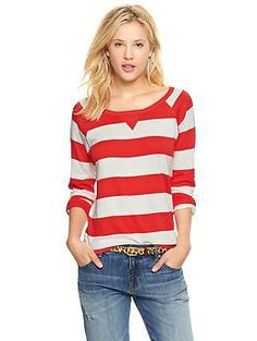 6. Red stripe. size S LINK: http://www.gap.com/browse/product.do?cid=17083&vid=1&pid=918149042