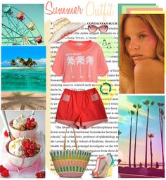"""Summer outfit with Xoanyu shorts"" by taggica ❤ liked on Polyvore"