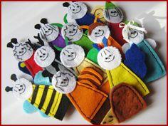 Bogyó és Babóca ujjbábok Cartoon Ideas, Finger Puppets, Felt Crafts, Hobbit, Home Made, Felting, The Hobbit, Hand Puppets, Felt