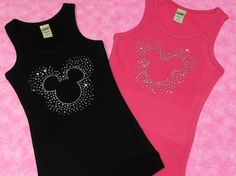 Mickey Mouse Disney Rhinestone Shirt or Tank by SparklebyKnight, $22.00
