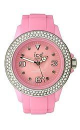 Ice Women's STPSUS10 Stone Silicone Pink Dial with Stone Accented Bezel Watch