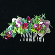 botanical hairpiece with phalaenopsis and texture, Françoise Weeks