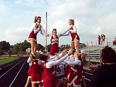 Flip over stunt Hays High Cheer