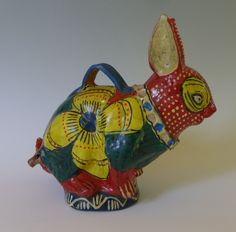 Vintage ceramic bank/whistle rabbit!