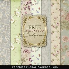 Freebies Kit of Floral Backgrounds