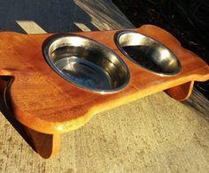 Tabela de madeira Dog Bowl para Mancha