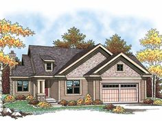 Eplans Ranch House Plan - Traditional Ranch with Craftsman Details - 1346 Square Feet and 2 Bedrooms from Eplans - House Plan Code HWEPL14351
