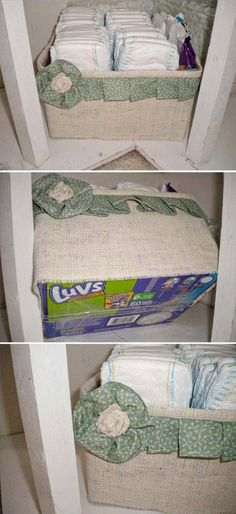 recycle diaper boxes...maybe even for the classroom