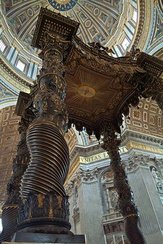 everyone should stand here at least once in their life! truely amazing!!! - St. Peter's Baldaquino de Bernini