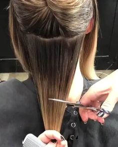 Amazing hair transformation - All About Hair Hair Cutting Videos, Hair Cutting Techniques, Hair Color Techniques, Hair Videos, Makeup Techniques, Undercut Hairstyles, Cool Hairstyles, Curling Iron Hairstyles, Haircuts