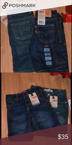 Two brand new with tags 3T Levi's shorts Two brand new with tags 3T Levi's shorts one pair regular one pair utility purchased new at Kohl's. Levi's Bottoms Shorts
