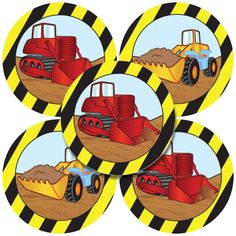 Construction Party Value Stickers (5)