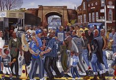 Ed Gray Art, Painter of city life, street and people in London London Art, East London, Millwall Fc, Grey Artist, Best Football Team, Real People, Lions, Baseball Cards, Street