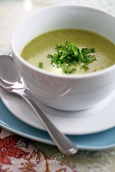 Gluten free creamy detox soup made with coconut milk is vegan and dairy free delicious