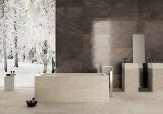 TriBeCa od Mirage. Włoska łazienka w kamiennej stylizacji.