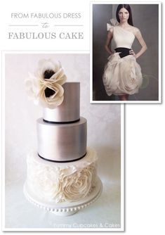 what a gorgeous cake  Vera Wang Cake by Yummy Cupcakes & Cakes  |  TheCakeBlog.com