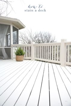 Get the tips & tricks how to stain a deck for a beautiful finish with minimal effort @julieblanner