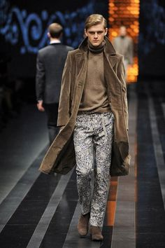 Canali printed pants for mens fall 2012