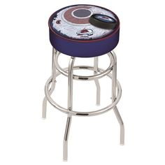 Colorado Avalanche NHL D2 Retro Chrome Bar Stool. Available in 25-inch and 30-inch seat heights. Visit SportsFansPlus.com for details.