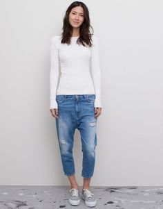 RIPPED BEDOUIN JEANS - BLUE