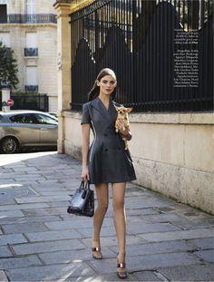EL GLAMOUR VIENE DE PARIS...: CAROLINA THALER BY PASCAL CHEVALLIER FOR ELLE SPAIN FEBRUARY 2013