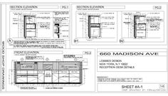 reception desk section detail drawing Drawing Desk, Working Drawing, Detailed Drawings, Technical Drawings, Construction Drawings, Lobby Design, Front Desk, Architecture, Interior Detailing