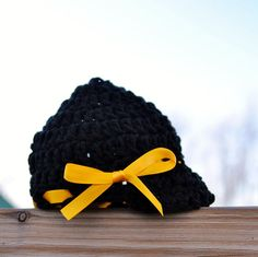 Pittsburgh Steelers baby girl hat newsboy hat newborn by Kimberose, $20.00
