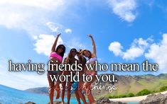 having friends who mean the world to you♥ #justgirlythings