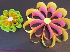 Tuto paper flowers for Easter or festive event 1001 Easy Crafts, Diy And Crafts, Crafts For Kids, Paper Crafts, Flower Crafts, Diy Flowers, Paper Flowers, Diy Fleur, Fleurs Diy