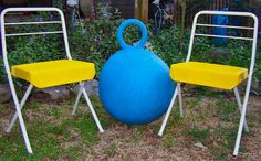 Vintage Child's Folding Chairs with Sunny by RamshackleVilla, $45.00