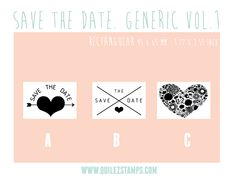 Save the date Stamp. Designs by Quilez Stamps
