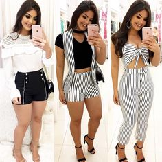 """1,382 curtidas, 12 comentários - Loja Girls Chick (@lojagirlschick) no Instagram: """"Atacado e Varejo 💕 🖥Compre pelo site: www.girlschick.com.br Dúvidas: (85) 98632-3696 📲Compre por…"""" Trendy Outfits, Cute Outfits, Short Dresses, Girls Dresses, Minimal Outfit, High Fashion, Womens Fashion, Outfit Goals, Female Models"""