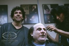 Tim Burton and his newest creation, by Danny DeVito and Stan Winston Studio: The Penguin.