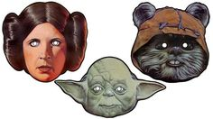 free printable star wars masks: