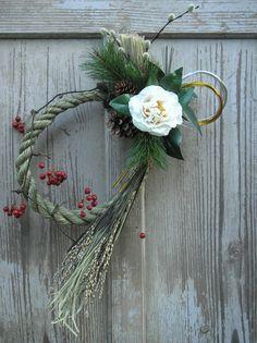 正月飾り 白椿