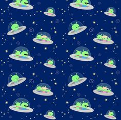 Out of This World fabric by clayvision on Spoonflower - custom fabric