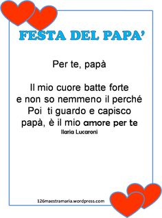 Biglietti,poesie,letterine per la festa del papà Dad Day, Mom And Dad, Activities For Kids, Crafts For Kids, Italian Language, Teaching Materials, Holidays And Events, Fathers Day Gifts, Education
